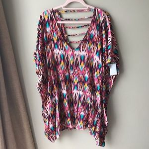 Kenneth Cole New York Ikat Swim Tunic Coverup